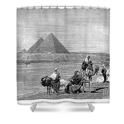 Pyramids At Giza, 1882 Shower Curtain by Granger
