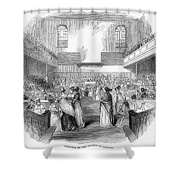 Quaker Meeting, 1843 Shower Curtain by Granger