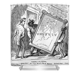Reconstruction Cartoon Shower Curtain by Granger