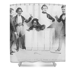 Resurrection Of Henry Box Brown Shower Curtain by Photo Researchers