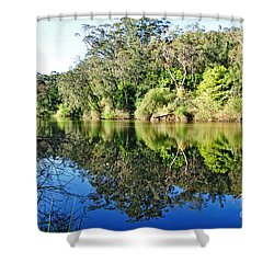 River Reflections Shower Curtain by Kaye Menner