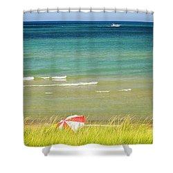 Sand Dunes At Beach Shower Curtain by Elena Elisseeva