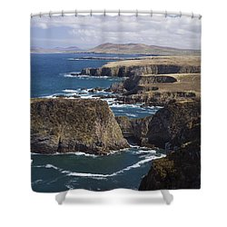 Sea Cliffs And Coastline Near Erris Shower Curtain by Gareth McCormack