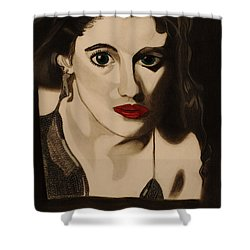 Self Portrait Shower Curtain by Teri Schuster