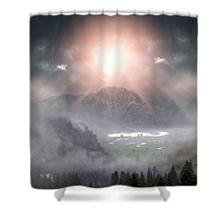 Silent Night Shower Curtain by Bill Stephens