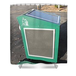 Solar Powered Trash Compactor Shower Curtain by Photo Researchers, Inc.
