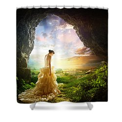 Solitary View Shower Curtain by Mary Hood