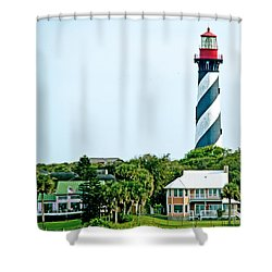 St. Augustine Lighthouse Shower Curtain by Kenneth Albin