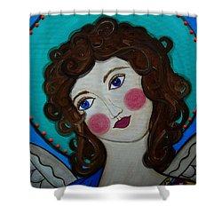 St Michael Archangel Shower Curtain by Pristine Cartera Turkus