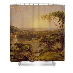 Summer Lake Ontario Shower Curtain by Jasper Francis Cropsey