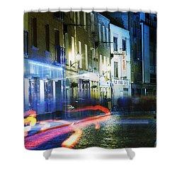 Temple Bar, Dublin, Co Dublin, Ireland Shower Curtain by The Irish Image Collection