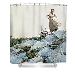 The Faggot Gatherer Shower Curtain by Winslow Homer