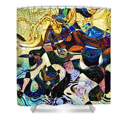 The Flight Of The Seahorse Shower Curtain by RC DeWinter