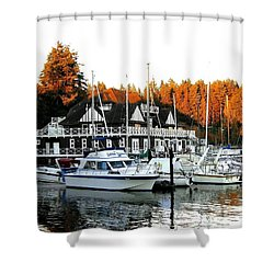 Vancouver Rowing Club Shower Curtain by Will Borden
