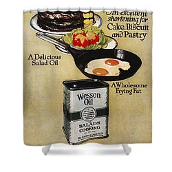 Vegetable Oil Ad, 1918 Shower Curtain by Granger