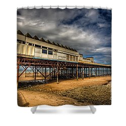 Victoria Pier Shower Curtain by Adrian Evans
