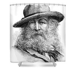 Walt Whitman (1819-1892) Shower Curtain by Granger