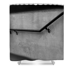 Where It Goes-3 Shower Curtain by Fran Riley