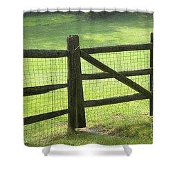 Wood Fence Shower Curtain by Tony Cordoza