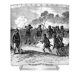 Civil War: Black Troops Shower Curtain by Granger