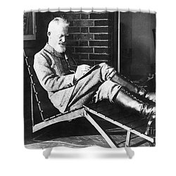 George Bernard Shaw Shower Curtain by Granger