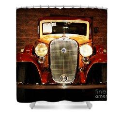 12v Collector Car Shower Curtain by Susanne Van Hulst