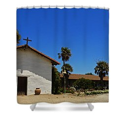 13th Mission Shower Curtain by Methune Hively