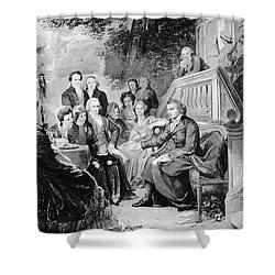 Friedrich Schiller Shower Curtain by Granger
