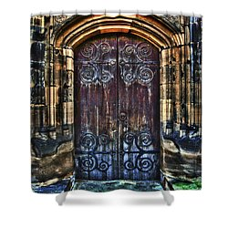14th Century Door Shower Curtain by Yhun Suarez