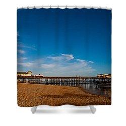 Hastings Pier Shower Curtain by Dawn OConnor