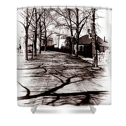 1900 Street Shower Curtain by Marcin and Dawid Witukiewicz