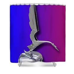 1931 Cadillac V-16 Heron Mascot Shower Curtain by Jack Pumphrey