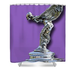 1934 Rolls Royce Spirit Mascot Shower Curtain by Jack Pumphrey