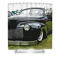 1940 Chevy Convertable Shower Curtain by Steve McKinzie