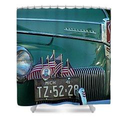 1941 Studebaker Shower Curtain by Dennis Pintoski