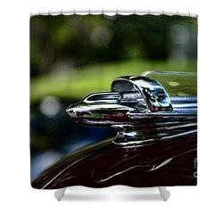 1947 Chevrolet Hood Ornament Shower Curtain by Paul Ward