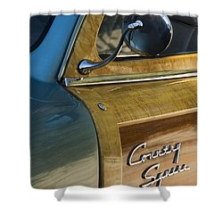 1951 Ford Woodie Country Sedan Shower Curtain by Jill Reger
