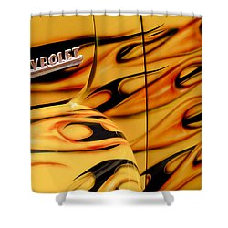 1952 Chevrolet Pickup Truck Emblem Shower Curtain by Jill Reger