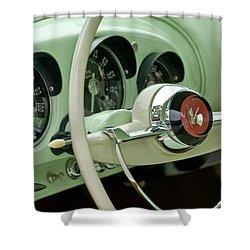 1954 Kaiser Darrin Steering Wheel Shower Curtain by Jill Reger