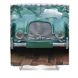 1955 Aston Martin Shower Curtain by Jill Reger