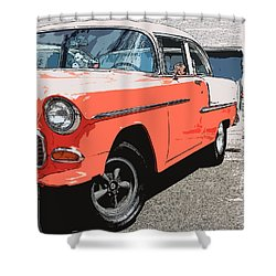 1955 Chevy Shower Curtain by Steve McKinzie