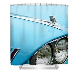 1958 Chevrolet Impala Fender Spear Shower Curtain by Jill Reger