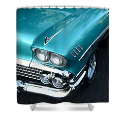 1958 Chevy Belair Front End 01 Shower Curtain by Paul Ward