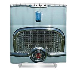 1959 Fiat Multipia Hood Emblem Shower Curtain by Jill Reger