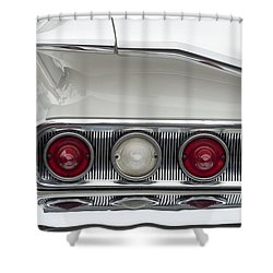 1960 Chevrolet Impala Tail Lights Shower Curtain by Jill Reger