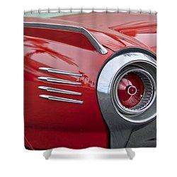 1961 Ford Thunderbird Taillight Shower Curtain by Jill Reger
