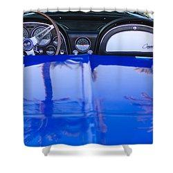 1965 Chevrolet Corvette Sting Ray Shower Curtain by Jill Reger