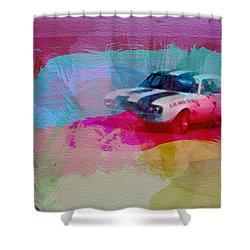 1968 Chevy Camaro Shower Curtain by Naxart Studio