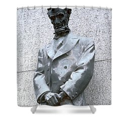 Abraham Lincoln Statue Shower Curtain by Granger