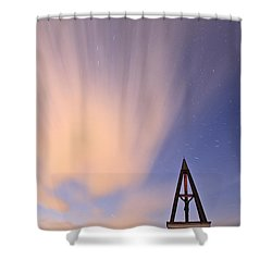 Against The Stars Shower Curtain by Ian Middleton